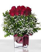 Ardahan çiçek , çiçekçi , çiçekçilik  11 adet gül mika yada cam - anneler günü seçimi -