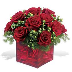 Ardahan çiçek yolla  9 adet kirmizi gül cam yada mika vazoda