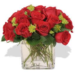 Ardahan çiçekçi telefonları  10 adet kirmizi gül ve cam yada mika vazo