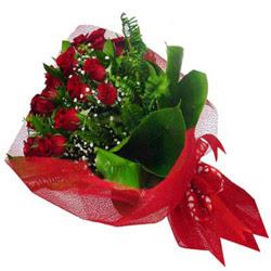 Ardahan kaliteli taze ve ucuz çiçekler  12 adet kirmizi essiz gül buketi - SEVENE ÖZEL