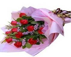 11 adet kirmizi güllerden görsel buket  Ardahan çiçek gönderme sitemiz güvenlidir