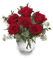 Vazo içerisinde 5 adet kırmızı gül  Ardahan çiçekçi mağazası