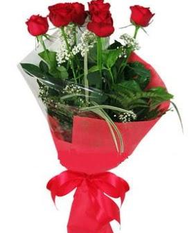 5 adet kırmızı gülden buket  Ardahan kaliteli taze ve ucuz çiçekler