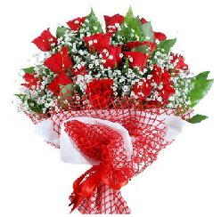 11 kırmızı gülden buket  Ardahan 14 şubat sevgililer günü çiçek