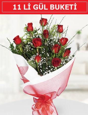 11 adet kırmızı gül buketi Aşk budur  Ardahan çiçek gönderme sitemiz güvenlidir