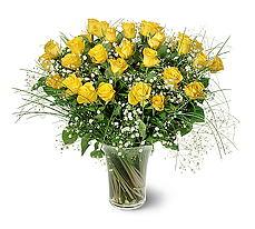 Ardahan çiçek siparişi sitesi  15 adet sarigül mika yada cam vazoda