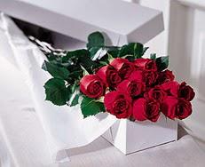 Ardahan çiçek satışı  özel kutuda 12 adet gül