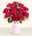 Ardahan hediye çiçek yolla  10 kirmizi gül cam yada mika vazo tanzim