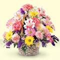 Ardahan uluslararası çiçek gönderme  sepet içerisinde gül ve mevsim