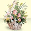 Ardahan 14 şubat sevgililer günü çiçek  sepette pembe güller