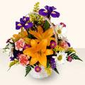 Ardahan 14 şubat sevgililer günü çiçek  sepet içinde karisik çiçekler