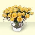 Ardahan çiçekçi telefonları  11 adet sari gül cam yada mika vazo içinde