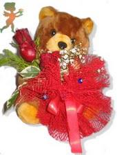 oyuncak ayi ve gül tanzim  Ardahan çiçekçiler