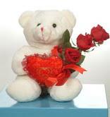 3 adetgül ve oyuncak   Ardahan online çiçekçi , çiçek siparişi