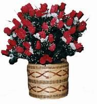 yapay kirmizi güller sepeti   Ardahan kaliteli taze ve ucuz çiçekler