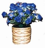 yapay mavi çiçek sepeti  Ardahan cicekciler , cicek siparisi