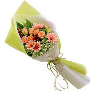sade güllü buket demeti  Ardahan çiçekçi mağazası