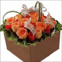 kare sandikta 11 gülllerden   Ardahan çiçekçi mağazası