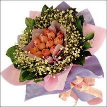 11  adet  gül ve   elyaflar   Ardahan çiçekçi mağazası