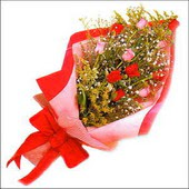 12 adet renkli  gül buketi   Ardahan çiçekçi mağazası