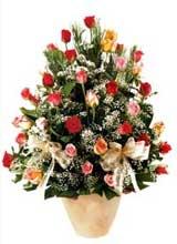 91 adet renkli gül aranjman   Ardahan çiçek gönderme sitemiz güvenlidir