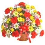 karisik renkli çiçek sepet   Ardahan çiçek gönderme sitemiz güvenlidir