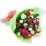 12 adet renkli gül buketi   Ardahan çiçek gönderme sitemiz güvenlidir