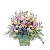 sepette kazablanka ve güller   Ardahan çiçek gönderme