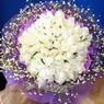 71 adet beyaz gül buketi   Ardahan çiçek , çiçekçi , çiçekçilik