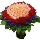 71 adet renkli gül buketi   Ardahan ucuz çiçek gönder
