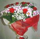 12 gül ve kir çiçeklerinden  Ardahan çiçek yolla