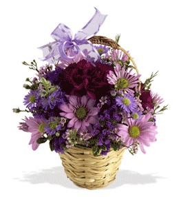 Ardahan uluslararası çiçek gönderme  sepet içerisinde krizantem çiçekleri