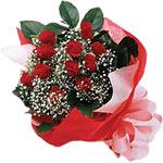Ardahan internetten çiçek satışı  KIRMIZI AMBALAJ BUKETINDE 12 ADET GÜL