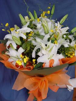 Ardahan internetten çiçek satışı  5 ADET KAZABLANKA BUKETI KALITEDEN SASMAYANLARA