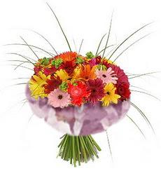 karisik gerbera demeti 15 adet gerberalardan  Ardahan çiçekçi mağazası
