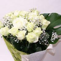 Ardahan hediye çiçek yolla  11 adet sade beyaz gül buketi