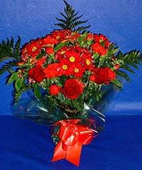 Ardahan hediye çiçek yolla  3 adet kirmizi gül ve kir çiçekleri buketi