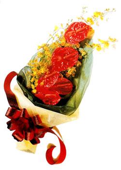 özel 5 adet antorium buketi   Ardahan çiçek gönderme sitemiz güvenlidir