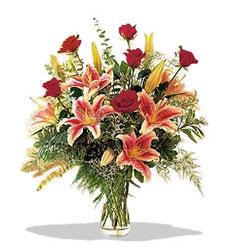 Ardahan çiçek servisi , çiçekçi adresleri  Pembe Lilyum ve Gül