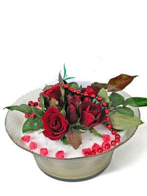 Ardahan çiçek siparişi vermek  EN ÇOK Sevenlere 7 adet kirmizi gül mika yada cam tanzim