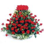 Ardahan kaliteli taze ve ucuz çiçekler  41 adet kirmizi gülden sepet tanzimi