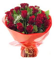 Ardahan anneler günü çiçek yolla  11 adet kimizi gülün ihtisami buket modeli