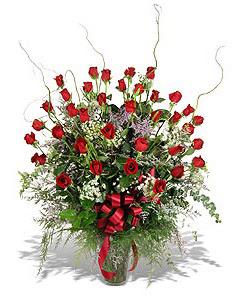 Ardahan çiçek siparişi sitesi  33 adet kirmizi gül vazo içerisinde