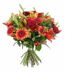 Ardahan çiçek gönderme  3 adet kirmizi gül ve karisik kir çiçekleri demeti