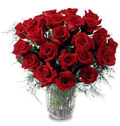 Ardahan çiçek gönderme sitemiz güvenlidir  11 adet kirmizi gül cam yada mika vazo içerisinde