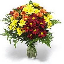 Ardahan çiçek siparişi sitesi  Karisik çiçeklerden mevsim vazosu