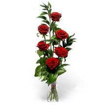 Ardahan çiçek siparişi sitesi  cam yada mika vazo içerisinde 6 adet kirmizi gül