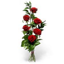 Ardahan uluslararası çiçek gönderme  mika yada cam vazoda 6 adet essiz gül