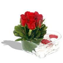 Mika kalp içerisinde 9 adet kirmizi gül  Ardahan çiçek servisi , çiçekçi adresleri