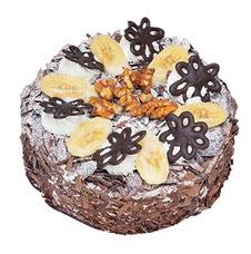 Muzlu çikolatali yas pasta 4 ile 6 kisilik   Ardahan uluslararası çiçek gönderme